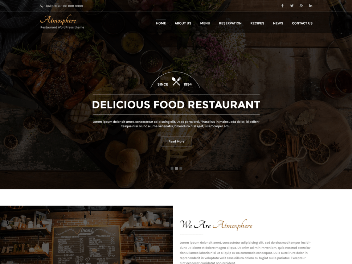 Atmosphere Lite - Responsive Restaurant WordPress Theme 1
