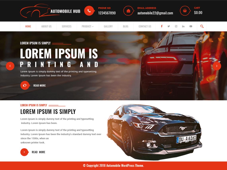 Automobile Hub - Automobile WordPress Theme 3