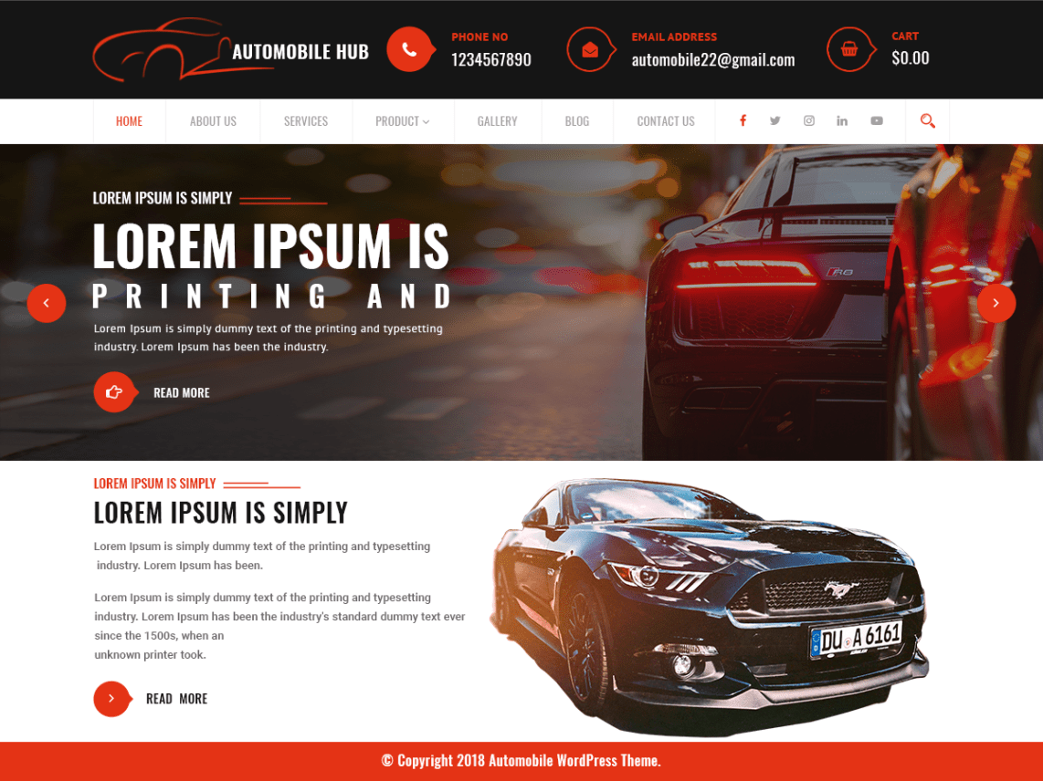 Automobile Hub - Automobile WordPress Theme 1