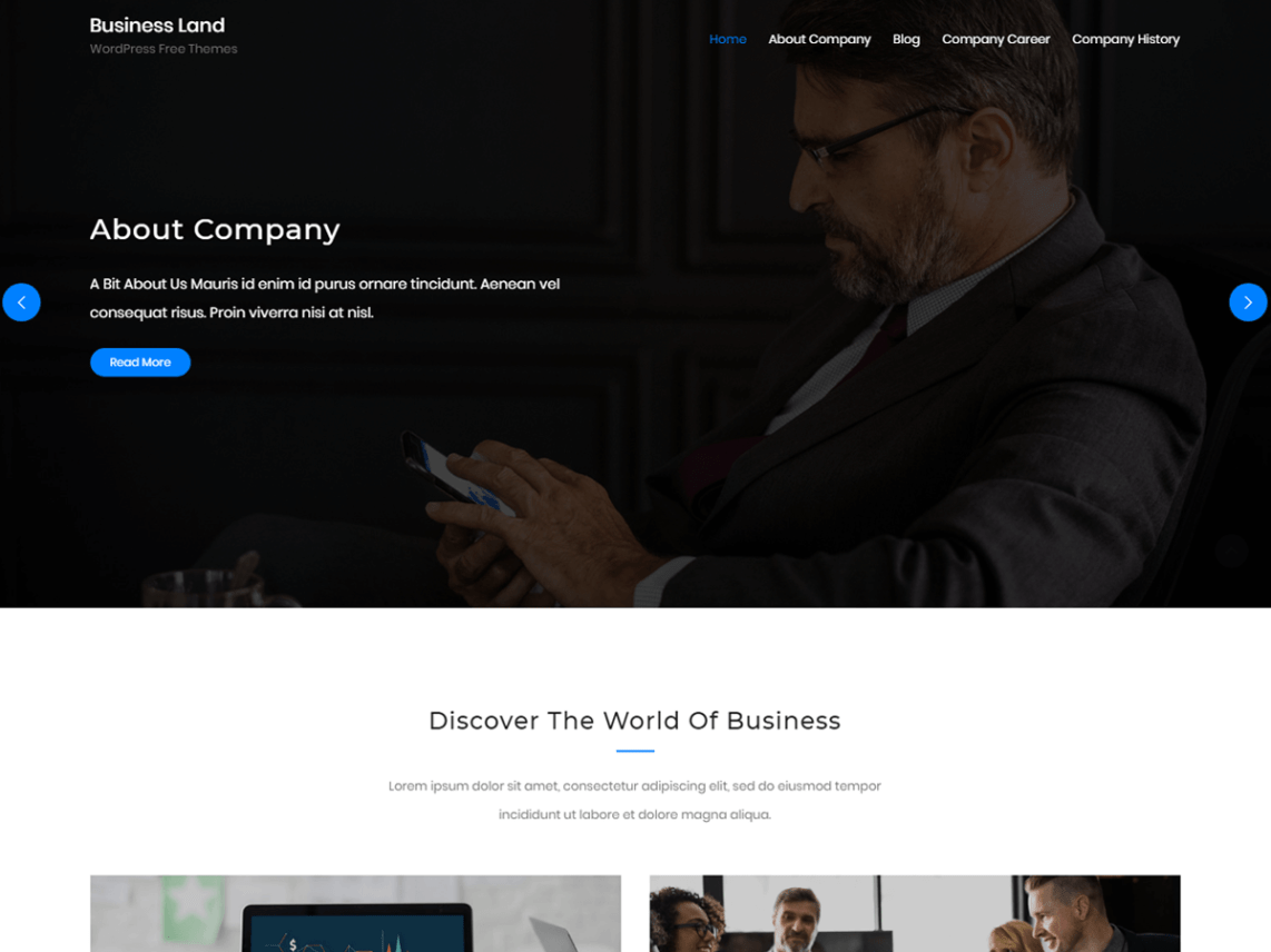 Business Land - WordPress Business Theme