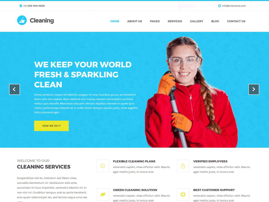 Cleaning Lite – The Cleaning Service For WordPress Theme