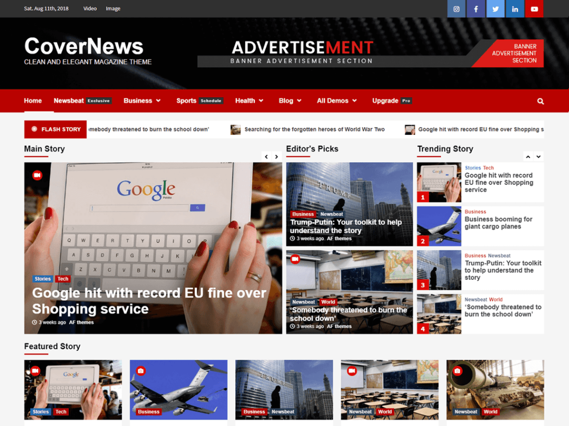 CoverNews - Clean and Elegant Free WordPress Theme 1