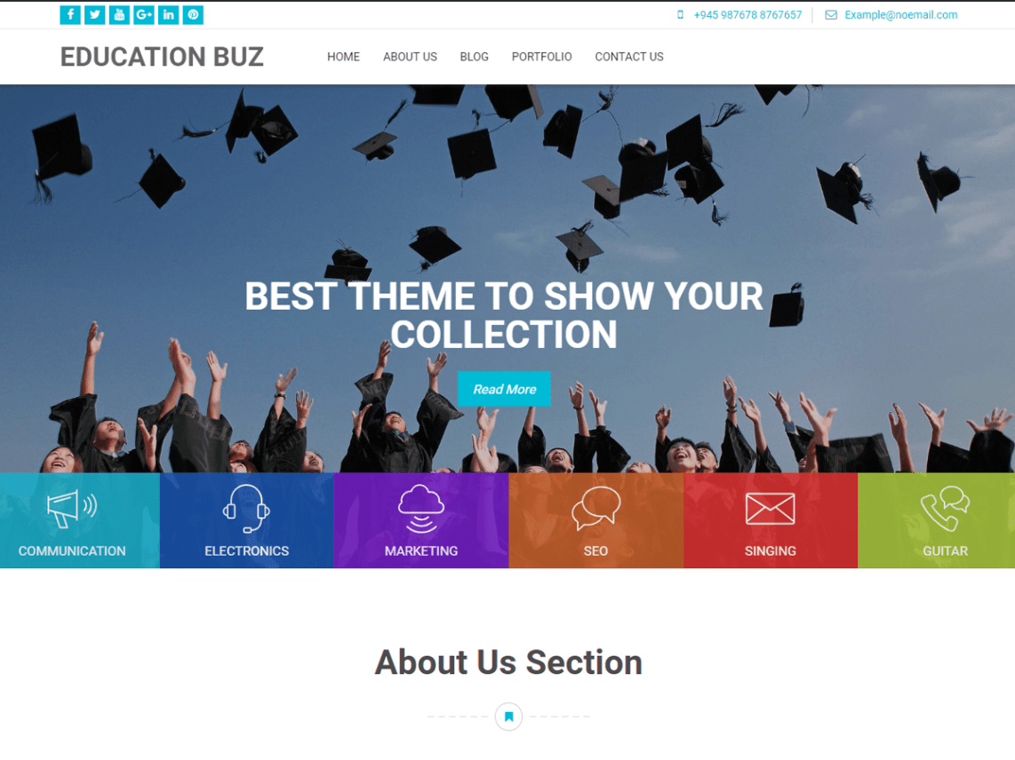 Education Buz - WordPress Theme for Education 1