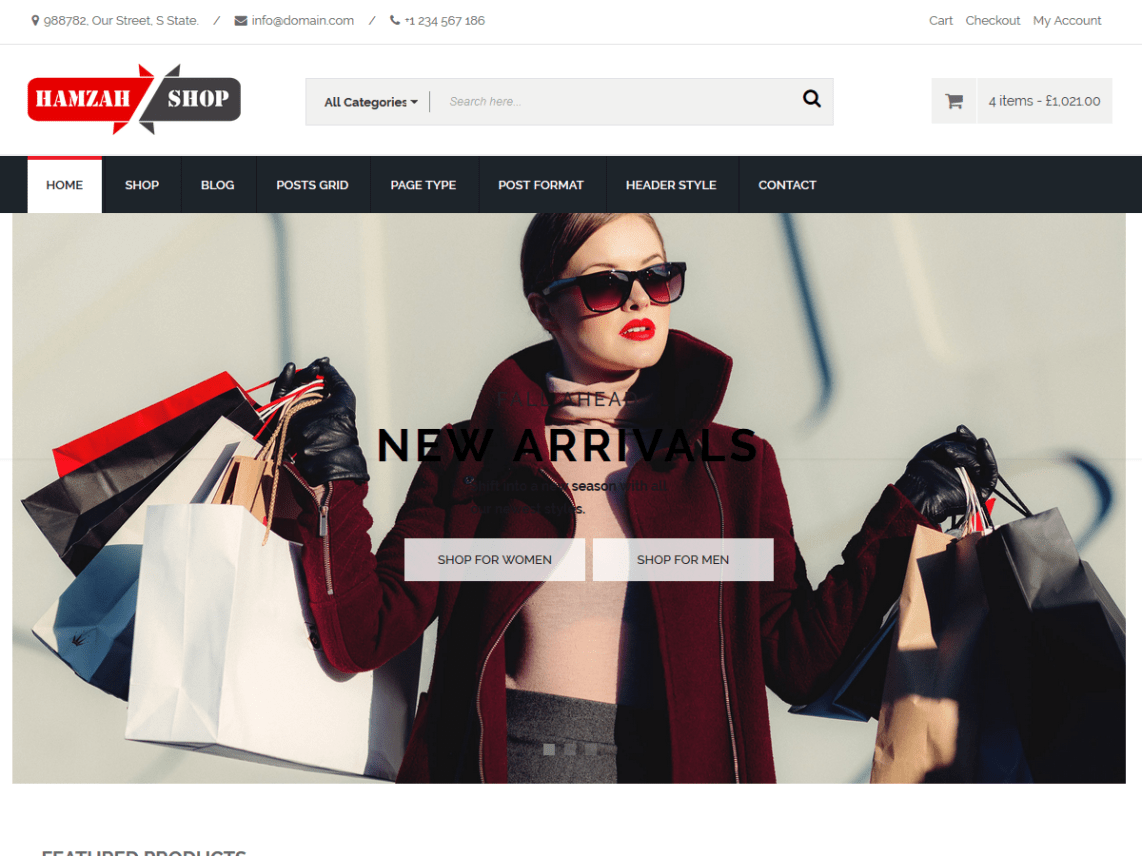Hamzah Shop - Modern E-Commerce WordPress Theme 7