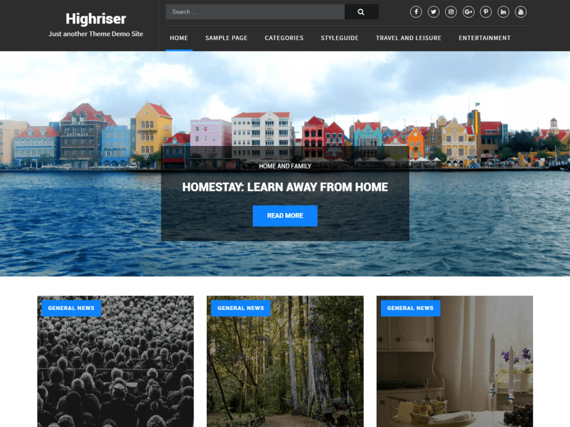 Highriser - Free WordPress Theme for Writers 5
