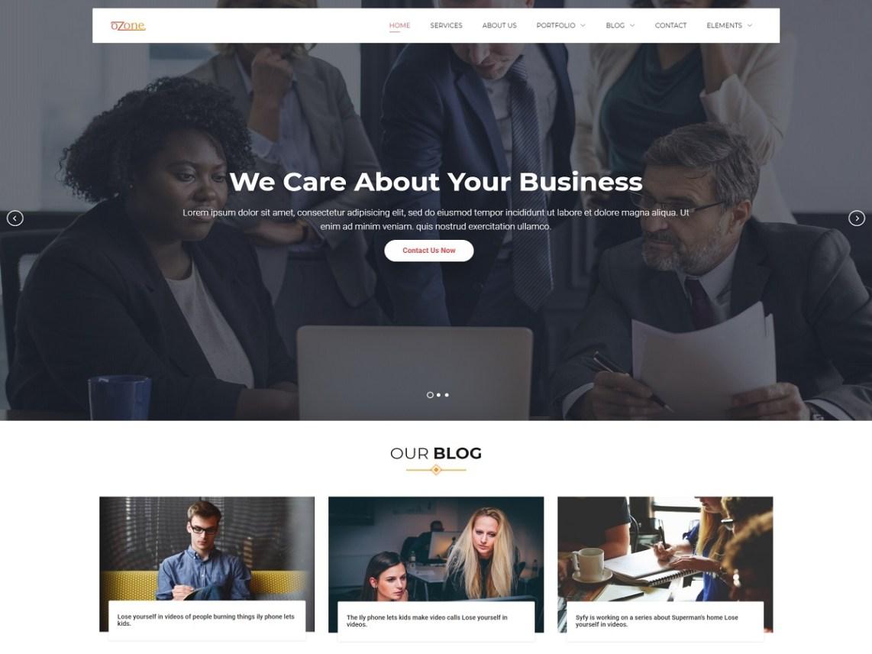 Ozone – Free Business WordPress Theme