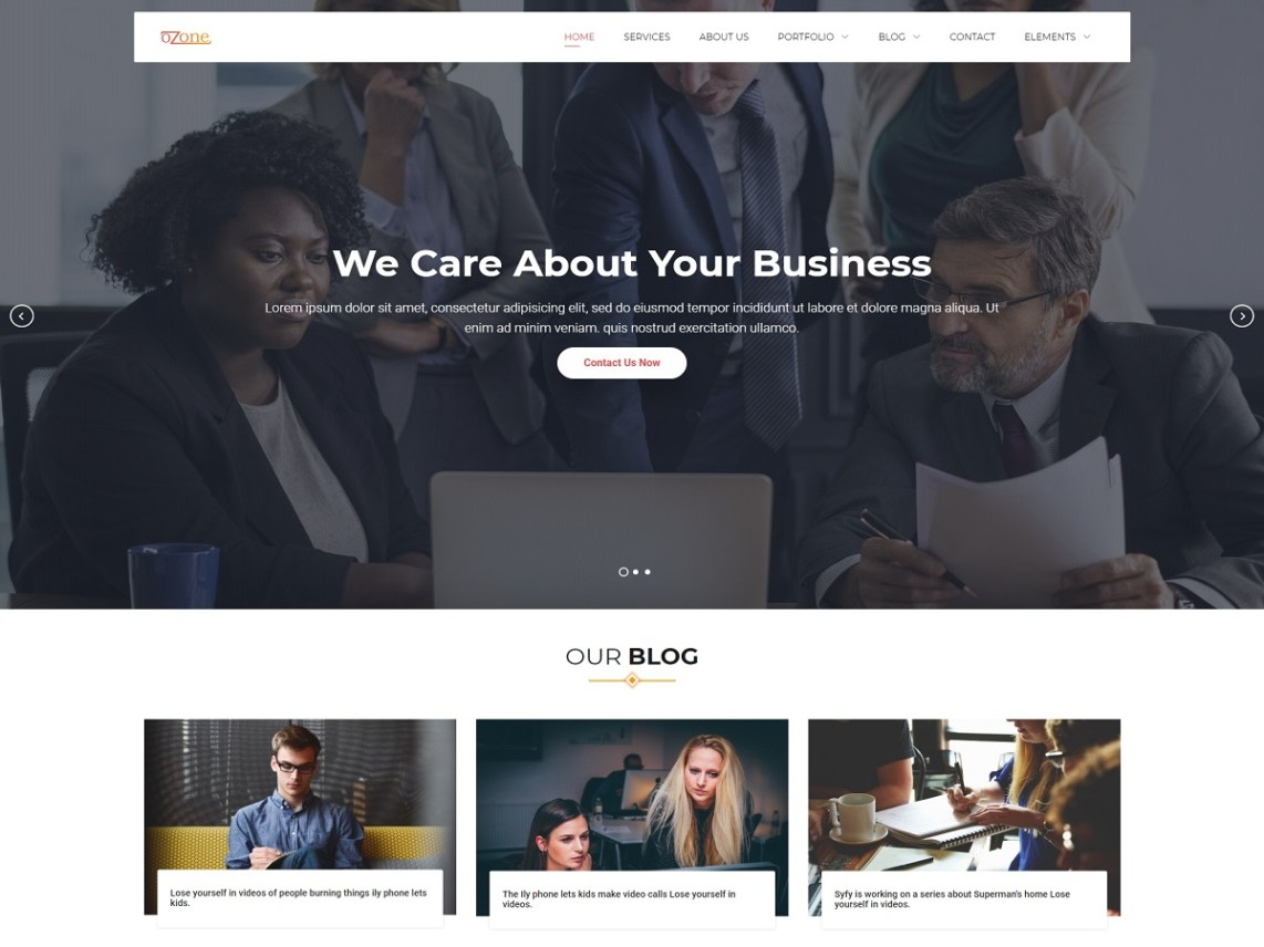 Ozone - Free Business WordPress Theme 2