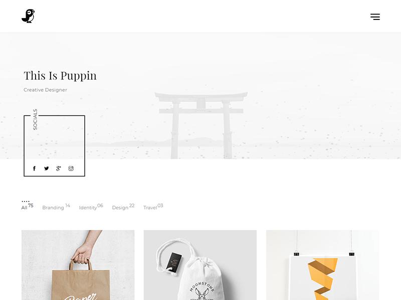 Puppin HTML5 Portfolio Template 7