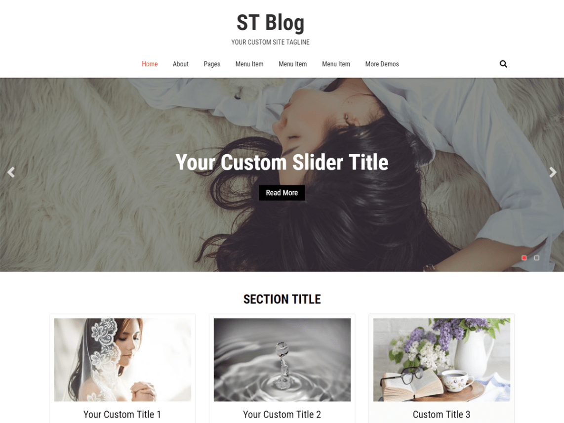 ST Blog Responsive WordPress Theme 6