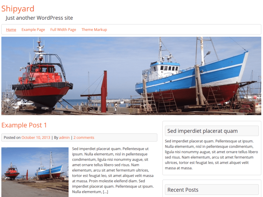 Shipyard – WordPress Theme For Shipyard