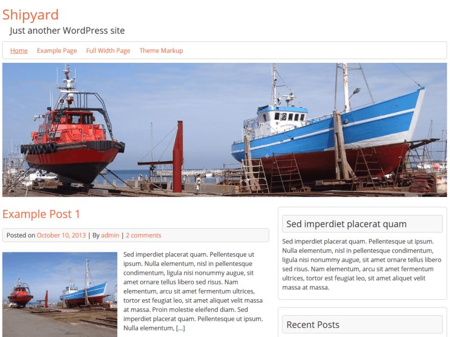 Shipyard - WordPress Theme For Shipyard