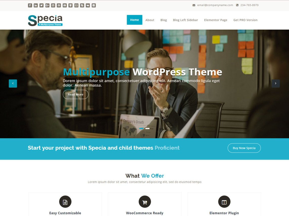 Specia - Trending WordPress Theme 2
