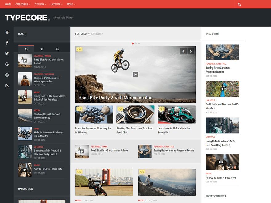 Typecore – WordPress Theme For Blogs And Magazines