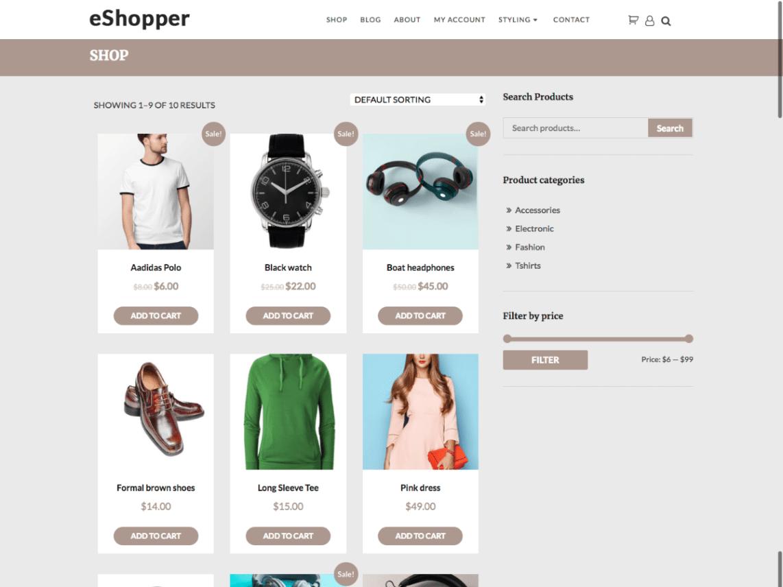 e-Shopper – eCommerce WordPress Theme