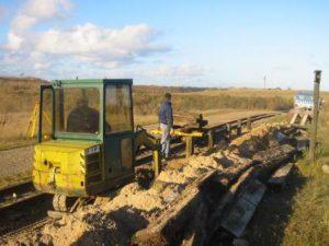 Nedgravning af ny kant