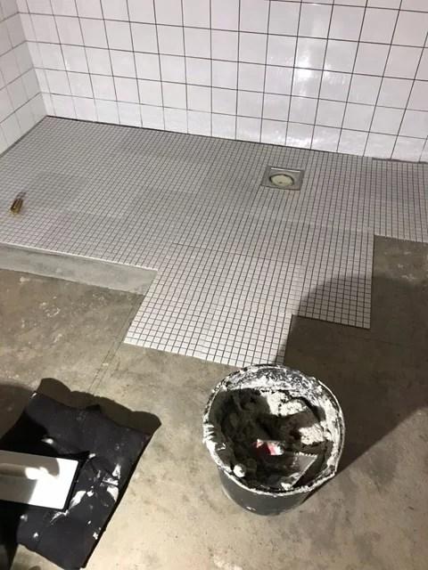 Tvättstuga olika färg på mosaik