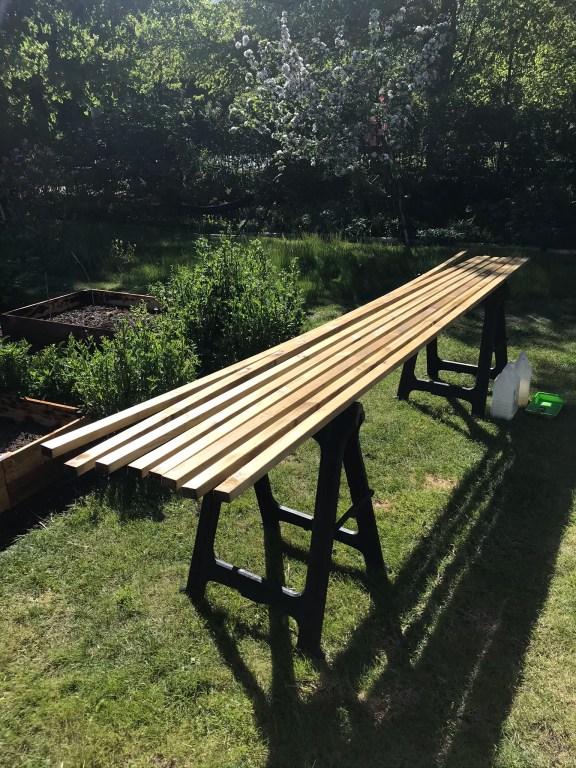 Material staketribbor tbygga trädgårdsmöbler