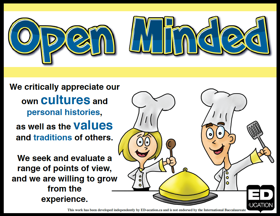 Image result for open minded ib learner profile
