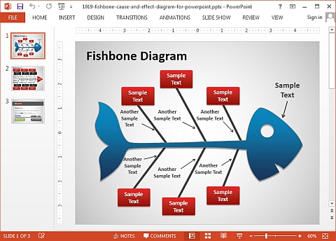 fishbone cause and effect diagram for powerpoint. free fishbone ...