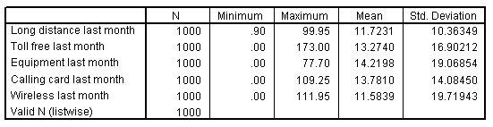 جدول الإحصاء الوصفي للمتغيرات المختارة - التحليل الوصفي للبيانات الكمية في SPSS