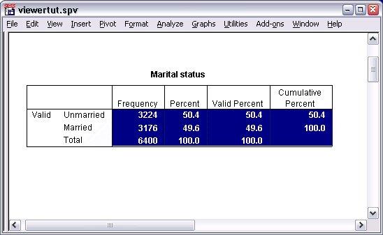 جدول الحالة الاجتماعية Marital status
