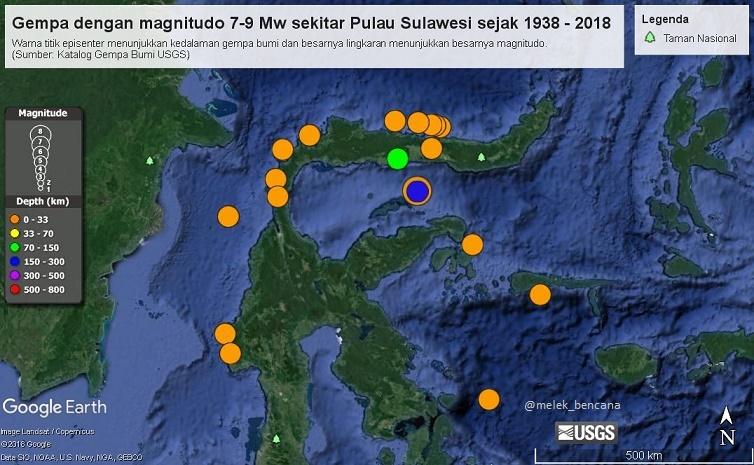 sejarah gempa sulawesi