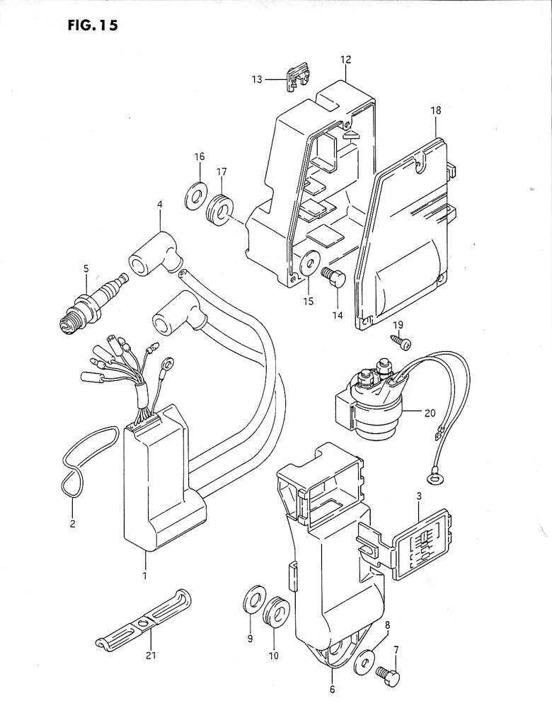 1986 suzuki dt40 g parts