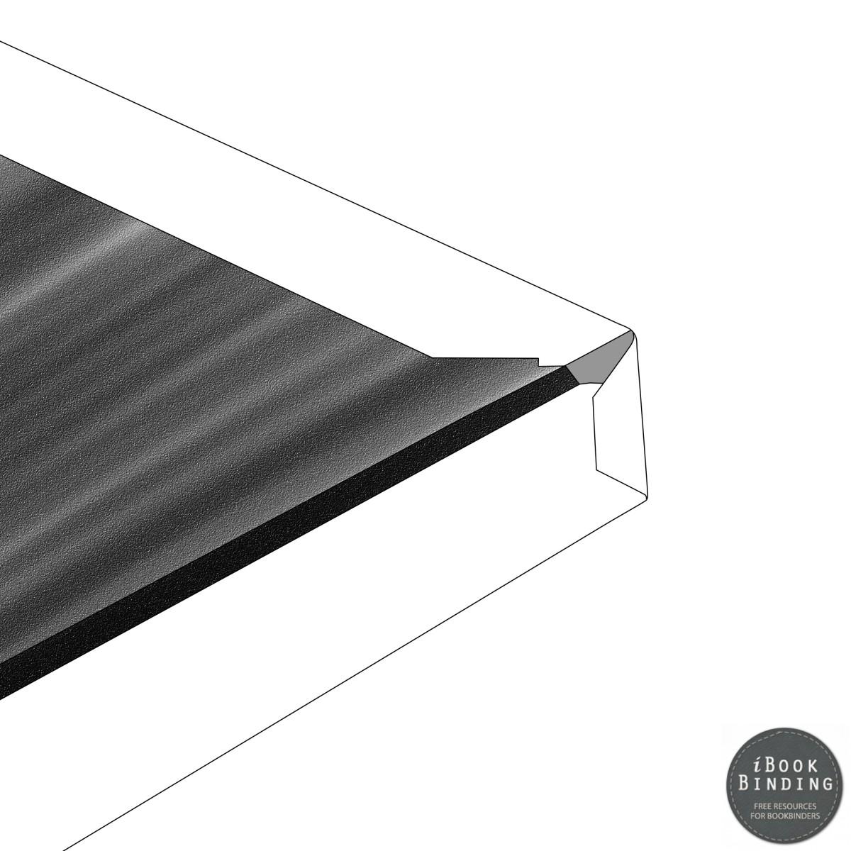 97 - Folding over edge of bookbinding turnover sheet to make corners