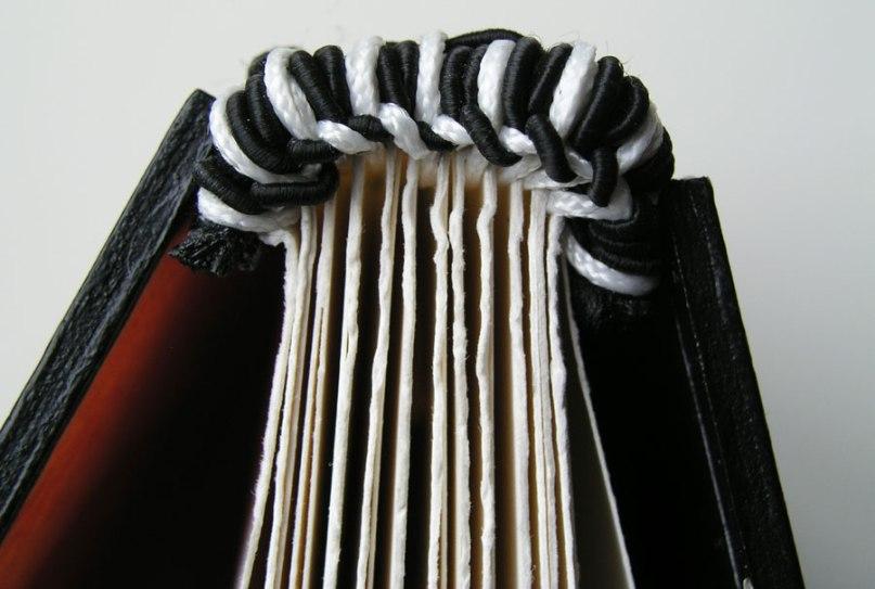 black and white woven headband
