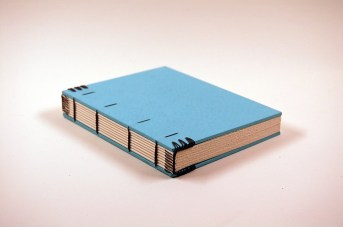 neat coptic stitch endbands book binding example