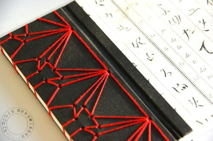 Black and Red Thread Japanese Binding Example