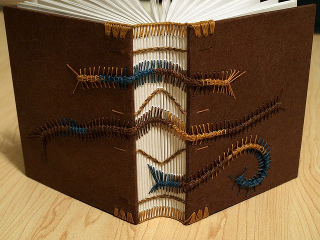 Top 10 coptic stitch binding tutorials on the internet coptic binding caterpillars brown covers bookbinding solutioingenieria Image collections