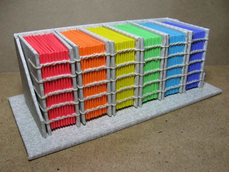 Different Coloured Book Collection Exposed Shain Stitched