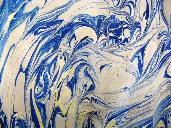 Marbled Paper Marbling Example-16 Photo by Lili's Bookbinding Blog - http://lilbookbinder.wordpress.com/marbled-paper/