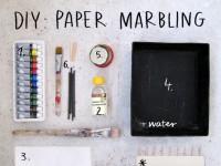 Oil Paints Paper Marbling