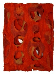 Red Hanji Paper by Jiyoung Chung - http://enversdudecor.tumblr.com/post/62127753887/noiseandtranquility-jiyoung-chung