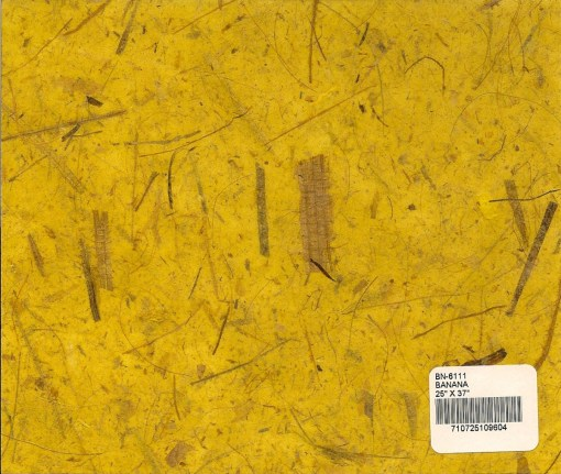Yellow Banana Tree Fiber Paper