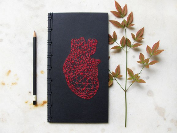 embroidered-red-heart-3d-mesh-on-black-notebook