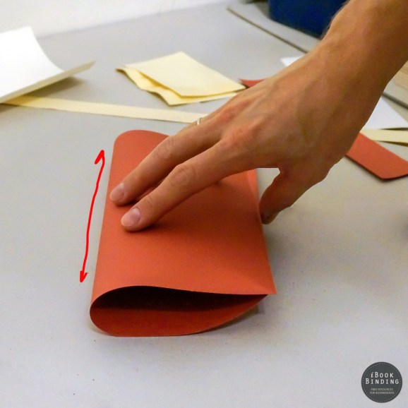 Determining grain direction by bending a sheet of paper. Low resistance
