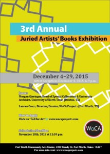 3rd Annual Artists' Book Exhibition, Fort Worth
