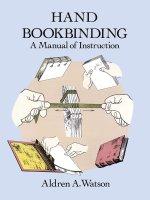 2015.12.02 - Hand Bookbinding A Manual of Instruction - Aldren A. Watson
