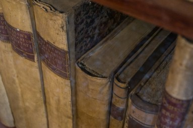 2016.08.04 - 17 - Headbands on Old Books - The Pisano Library of San Vidal - Libreria Pisani di San Vidal