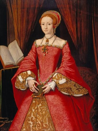 The Lady Elizabeth (future Queen Elizabeth I) with a girdle book, by an unknown artist
