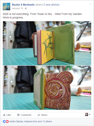 2017.02.21 - Beautiful Bookbinding-Themed Facebook Accounts - Studio 5 Bookarts 01