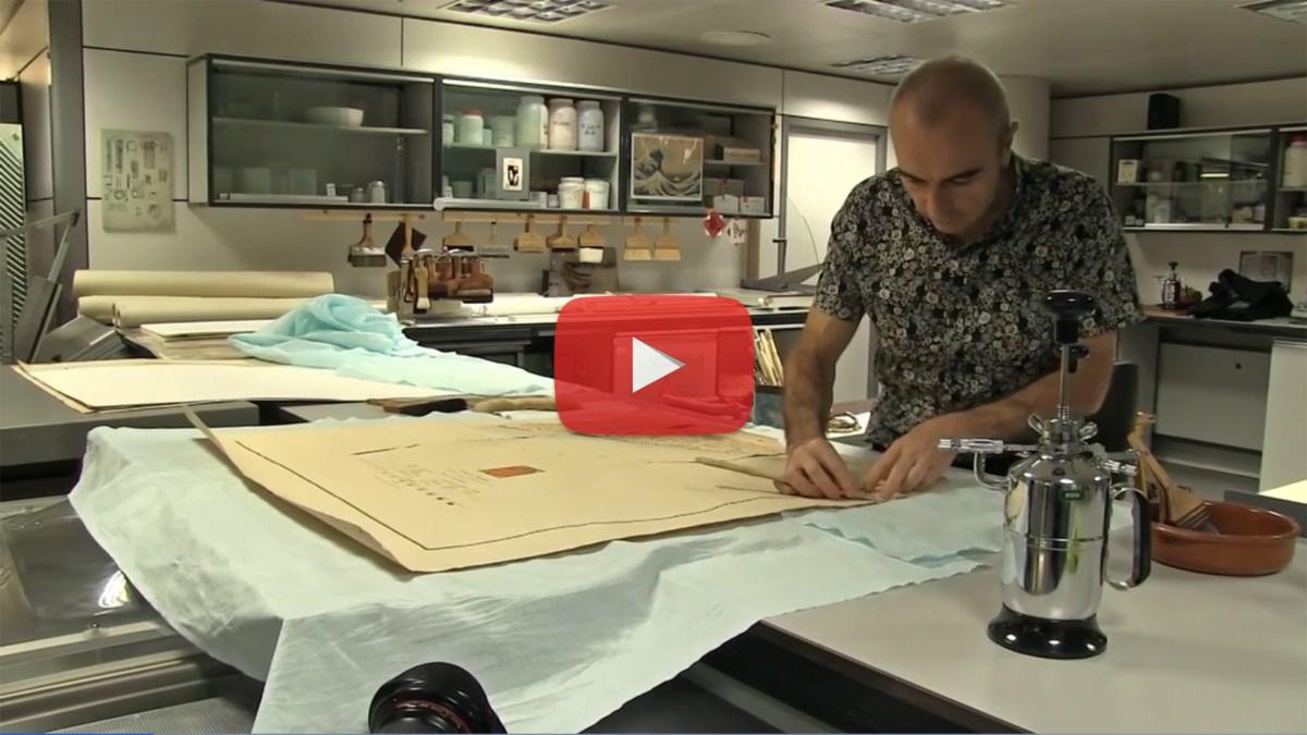 Entre no laboratório de restauro da Biblioteca Nacional de Espanha
