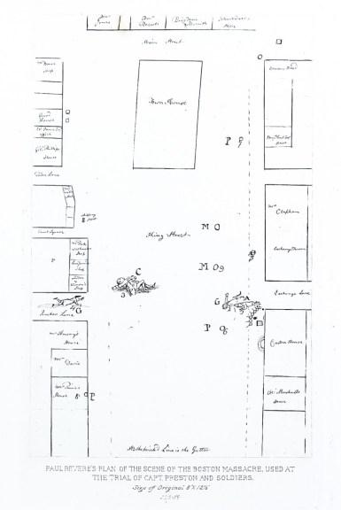 Paul Rever's Plan of the Scene of the Boston Massacre