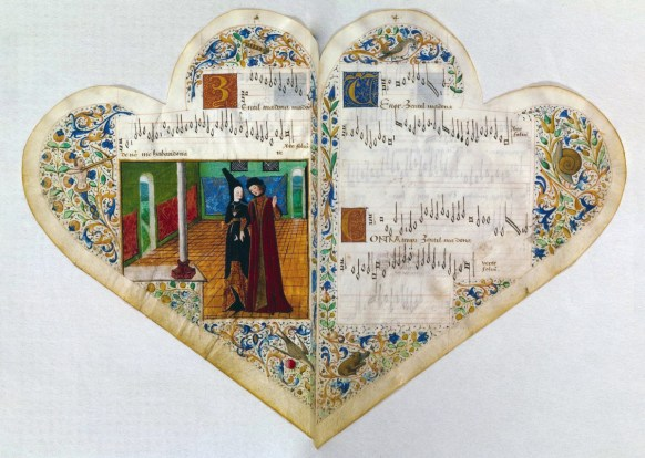 The Chansonniere de Jean de Montchenu dates from about 1470 and is a book of songs in French and Italian