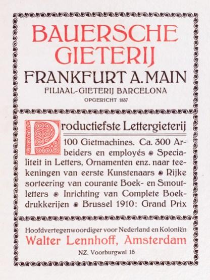 2019.02.21 - Amazing Century-Old Book Industry Ads - Bauersche Gieterij 1