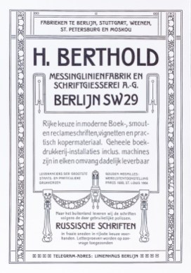 2019.02.21 - Amazing Century-Old Book Industry Ads - H. Berthold
