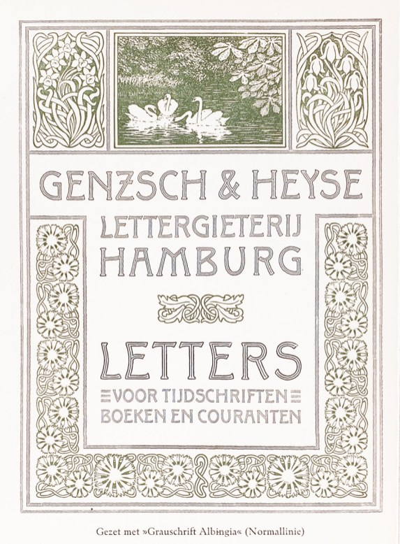 2019.02.21 - Amazing Century-Old Book Industry Ads - Lettergieterij Genzsch and Heyse 2
